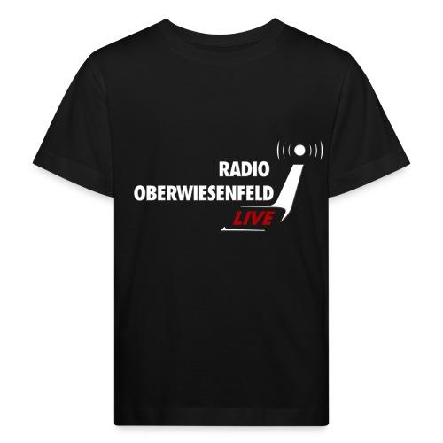 Kindershirt schwarz mit Logo - Kinder Bio-T-Shirt