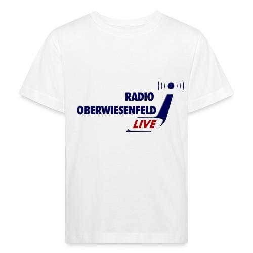 Kindershirt weiß mit Logo - Kinder Bio-T-Shirt