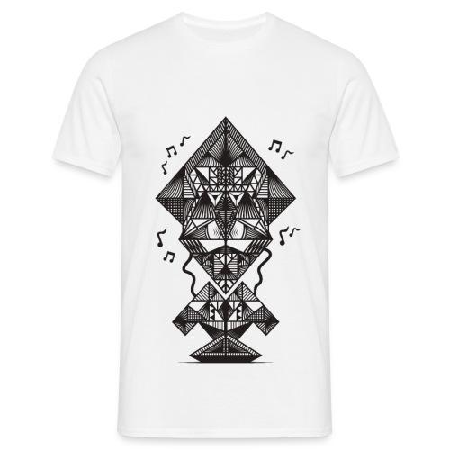 DRIEHOEK MAN - Mannen T-shirt