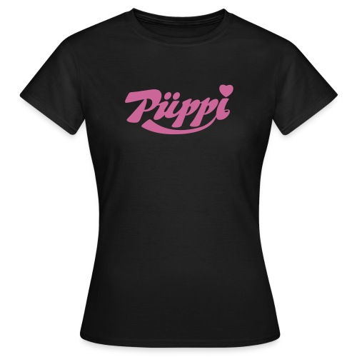 Püppi / Püppy - pink glitter - Frauen T-Shirt