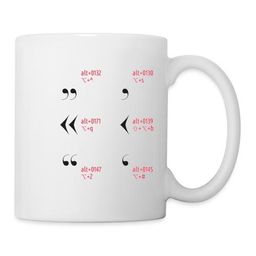 Anführungszeichen Spicktasse - Tasse