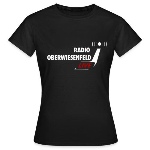 T-Shirt Frauen schwarz mit Logo - Frauen T-Shirt