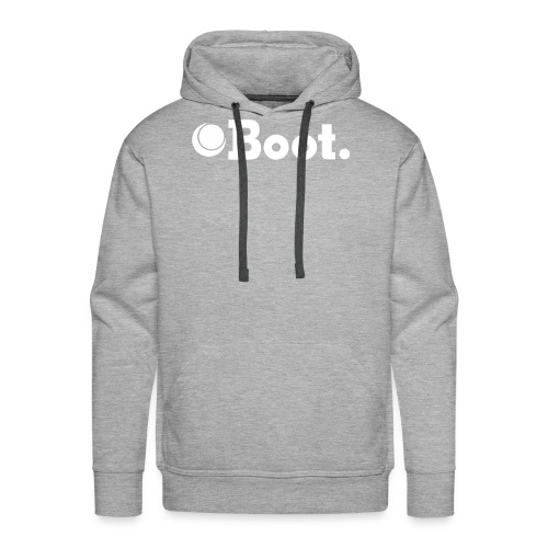 Grey with white logo - Click to choose colour - Men's Premium Hoodie