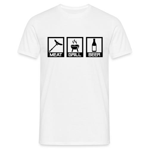 Men's classic meat, grill, beer t-shirt - Men's T-Shirt