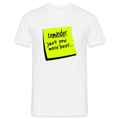 Men's classic reminder t-shirt - Men's T-Shirt