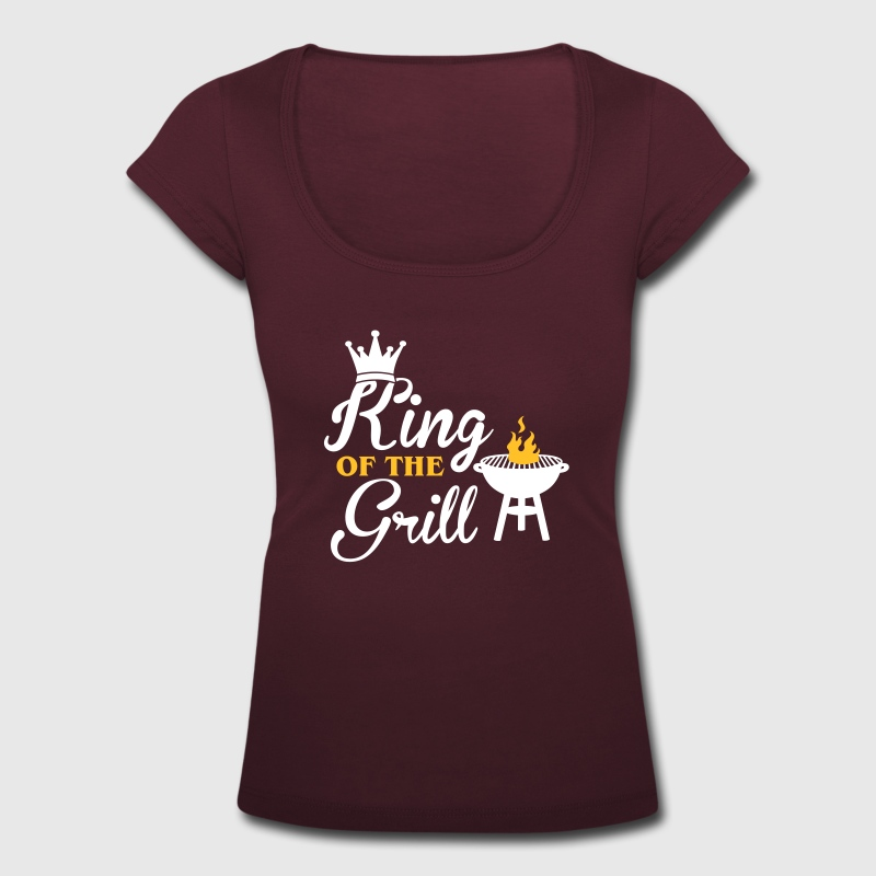 King of the Grill T-shirts - T-shirt med u-ringning dam