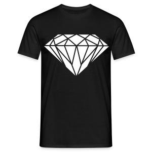 Male White Diamond - Men's T-Shirt