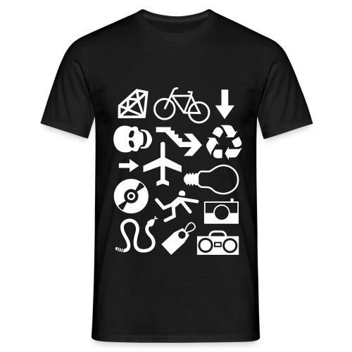 Pictogrammen shirt - Mannen T-shirt