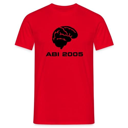 T-Shirt Abi 2005 mit Rückentext - Männer T-Shirt