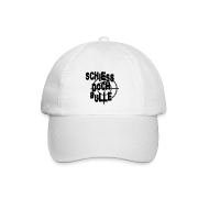 Caps & Mützen ~ Baseballkappe ~ Weiß/weiß schiessdochbulle Caps & Mützen
