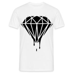 Male Dripping Black Diamond - Men's T-Shirt
