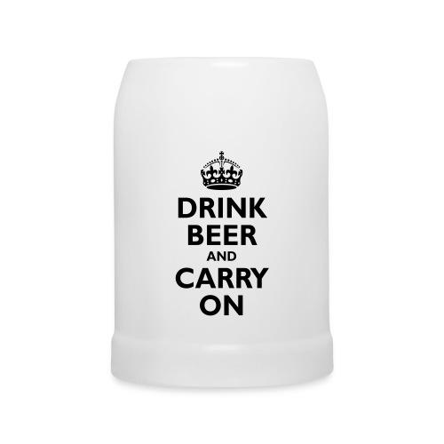 Thomas Clothing 'Drink Beer And Carry On' Mug White - Beer Mug