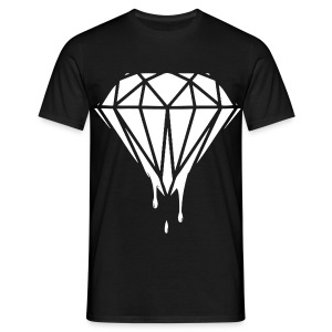 Male Dripping White Diamond - Men's T-Shirt