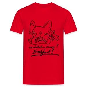 Motiv: Irrelefant (neu)   Druck: schwarz   verschiedene Farben - Männer T-Shirt