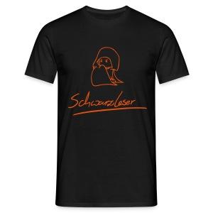 Motiv: Schwarzleser (neu) | Druck: orange | verschiedene Farben - Männer T-Shirt