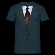 T-Shirts ~ Men's T-Shirt ~ Pin stripe Blue