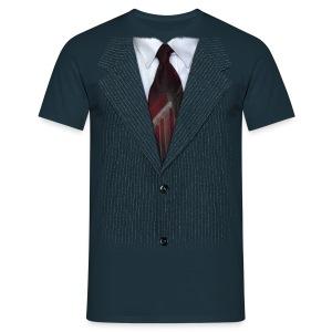 Pin stripe Blue - Men's T-Shirt