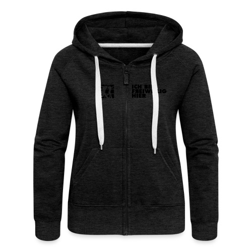 Frauen Kapuzenjacke (farbig) 2-seitiger, schwarzer Druck - Frauen Premium Kapuzenjacke
