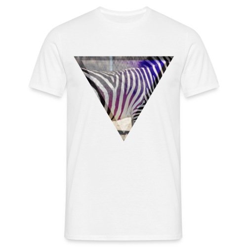 Zebra im Dreieck Herren T-Shirt - Männer T-Shirt