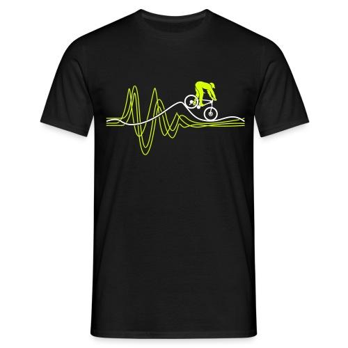 Heartbeat Black T-shirt - Men's T-Shirt