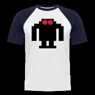 T-Shirts ~ Men's Baseball T-Shirt ~ 8 BIT ROBOT T-SHIRT