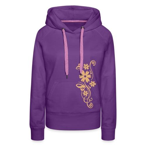 Woman´s Flower Sweater - Frauen Premium Hoodie