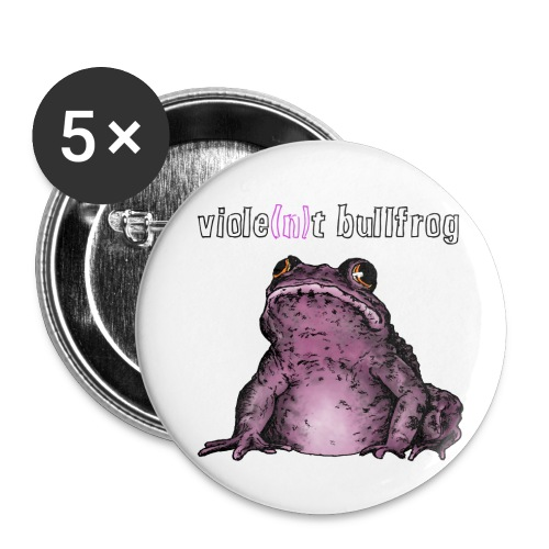 Violent Bullfrog Button Set - Buttons klein 25 mm