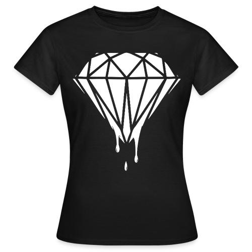Female Dripping White Diamond - Women's T-Shirt