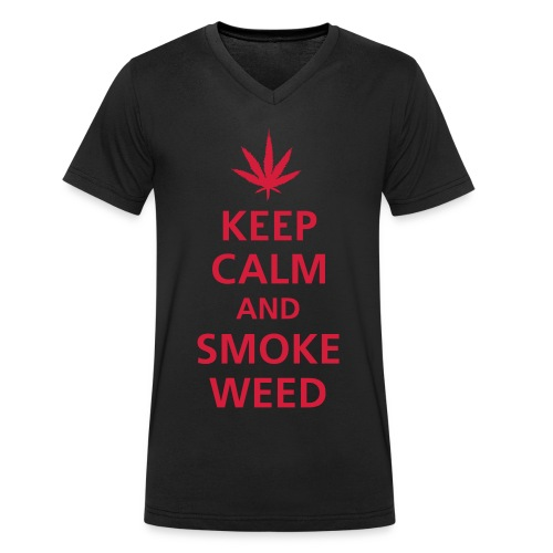 SMOKE - T-shirt ecologica da uomo con scollo a V di Stanley & Stella