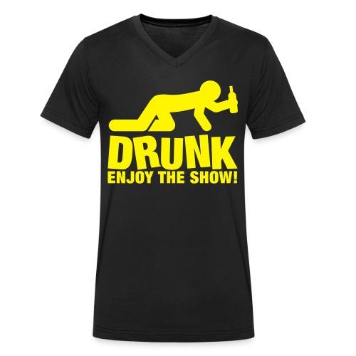 DRUNK - T-shirt ecologica da uomo con scollo a V di Stanley & Stella