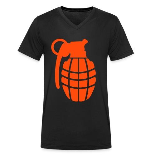 BOMB - T-shirt ecologica da uomo con scollo a V di Stanley & Stella