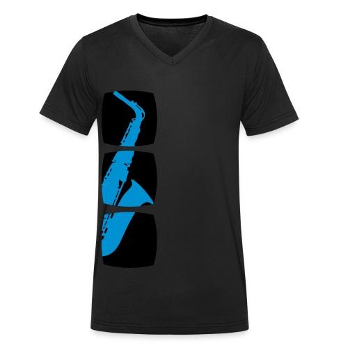 TROMBA - T-shirt ecologica da uomo con scollo a V di Stanley & Stella