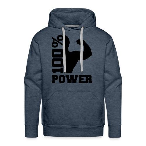 Sweater Power  - Mannen Premium hoodie