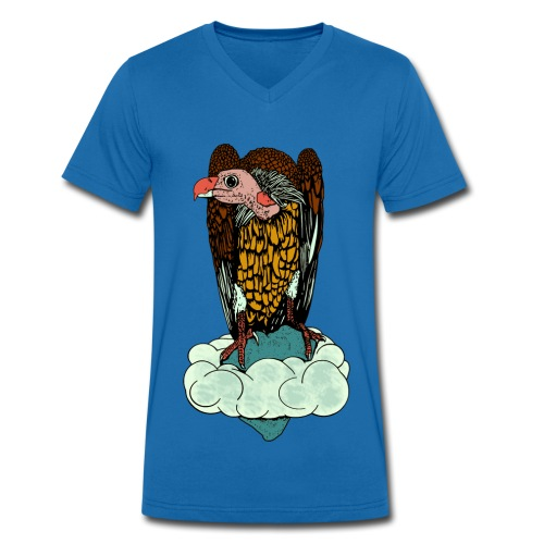 mannen T-shirt gier - Mannen bio T-shirt met V-hals van Stanley & Stella