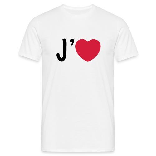 tee shirt j'aime - i love - T-shirt Homme