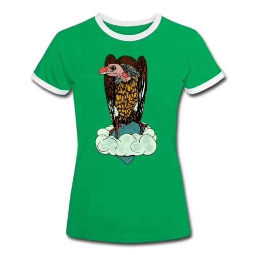 vrouwen  T-shirt gier - Vrouwen contrastshirt