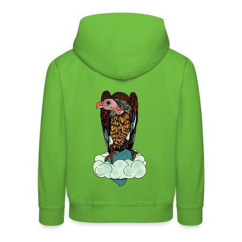 kinder jack met capuchon shirt gier - Kinderen trui Premium met capuchon