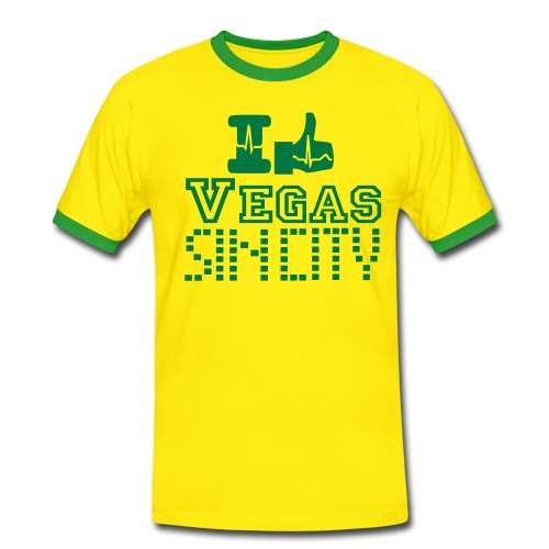I like Vegas sin city - Men's Ringer Shirt