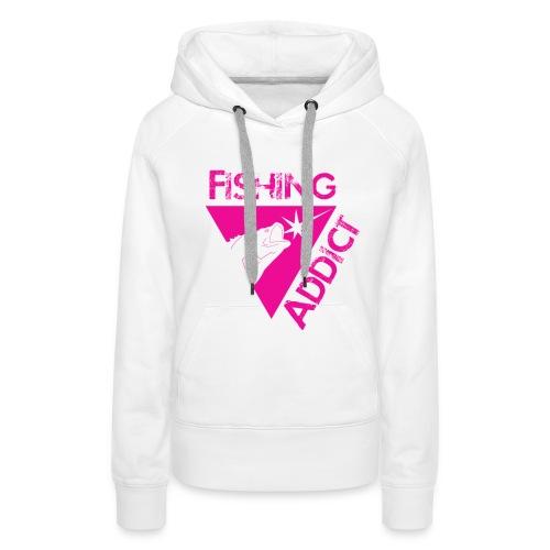 Fishing-sweat girl simply pinky - Sweat-shirt à capuche Premium pour femmes