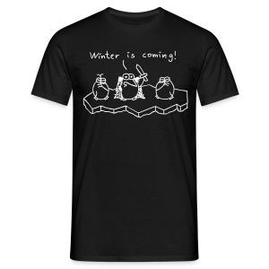 Winter is coming - T-Shirt (schwarz) - Männer T-Shirt