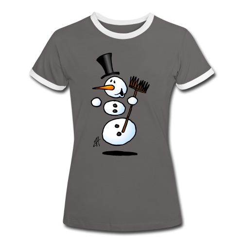 Dancing snowman - Women's Ringer T-Shirt