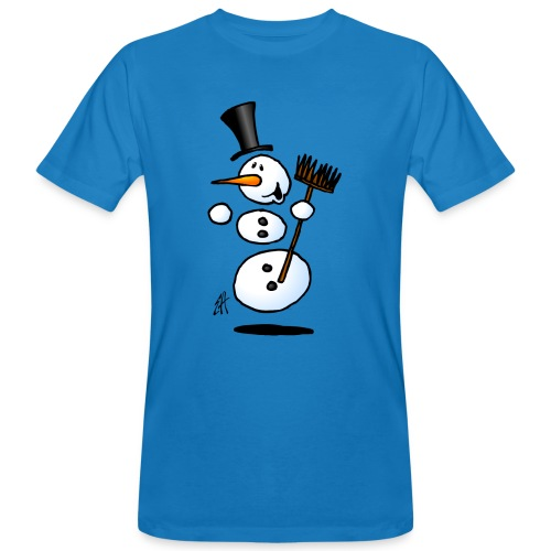 Dancing snowman - Men's Organic T-Shirt
