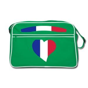 sac bendouillere  france   avec le logo de la france  - Sac Retro
