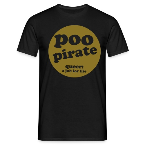 poo pirate gold - Men's T-Shirt