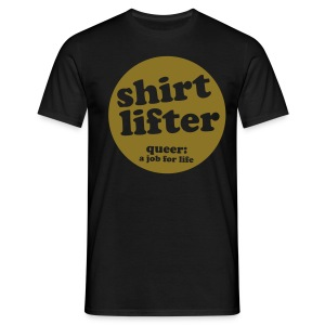 Black shirt lifter Men's Tees - Men's T-Shirt