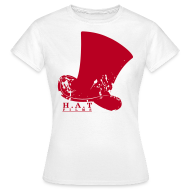 T-Shirts ~ Women's T-Shirt ~ Official Hat Films (Front Red)