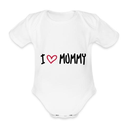 I heart Mummy - Organic Short-sleeved Baby Bodysuit