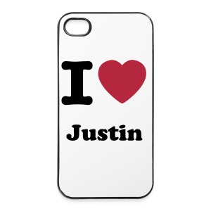 I 'Heart' Justin  cases 4/4s - iPhone 4/4s Hard Case
