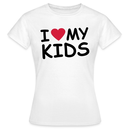 I Heart My Kids - Women's T-Shirt