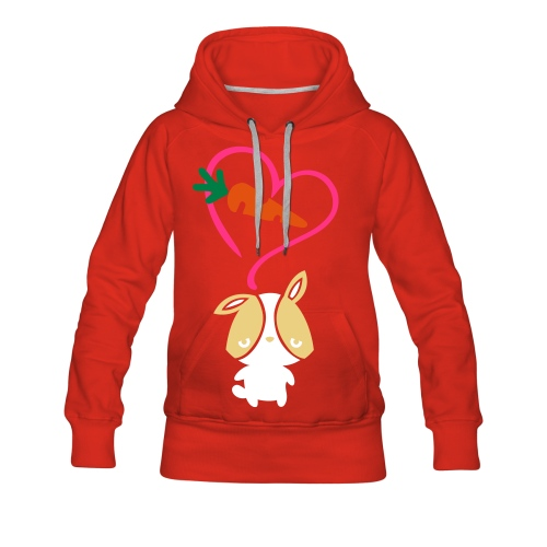 Bunny loves carrot - Women's Premium Hoodie